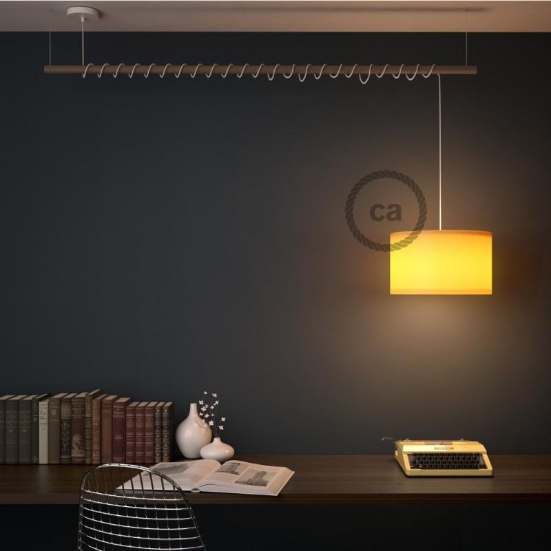 Kleine keramische plafondplaat - 7.5 cm diameter - Handgeschilderd bruin ,100% handgemaakt in Italië
