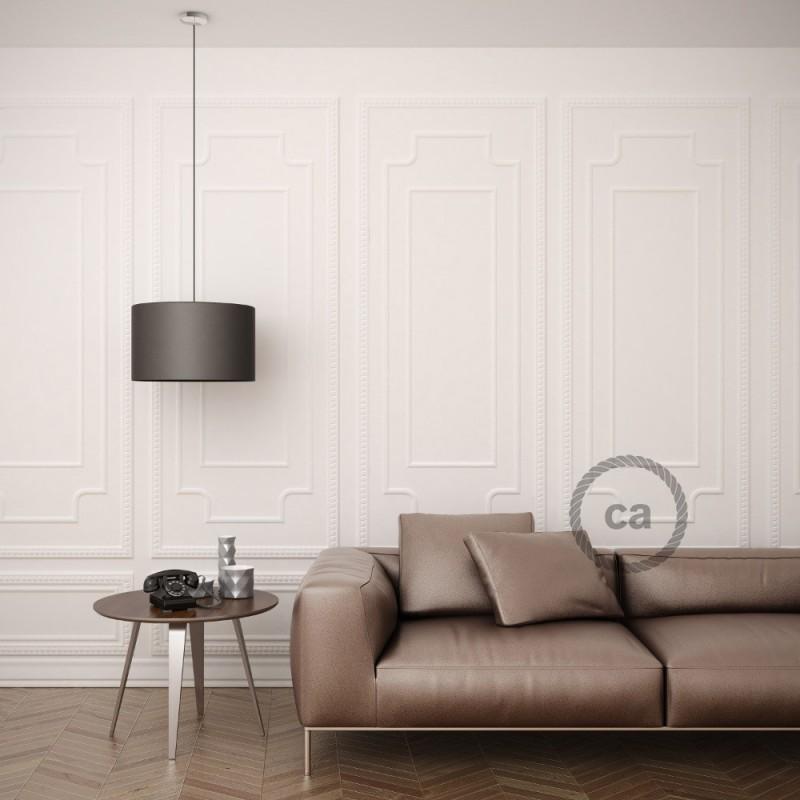 Keramiek plafondplaat van 130 mm met ophangbeugel - handgeschilderd bruin Dec.82 ,100% handgemaakt in Italië