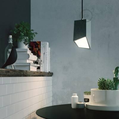 Prisma beton lampenkap met design trekontlaster en E27 fitting