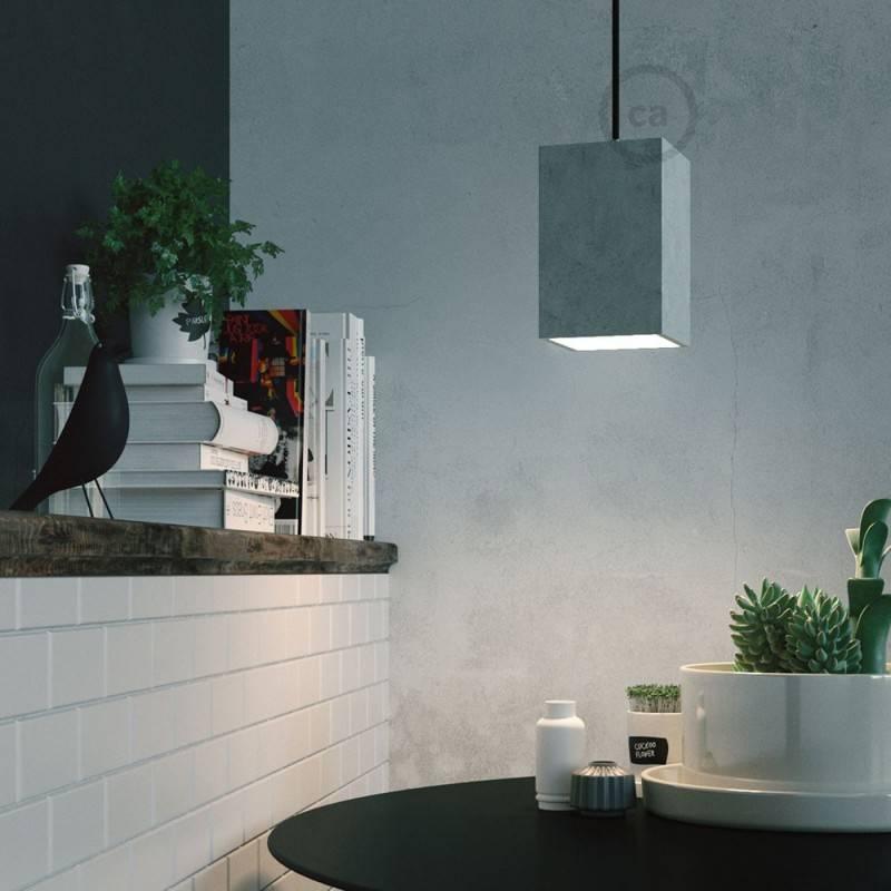 Verlichtingspendel E27 geschikt voor lampenkap. Hanglamp met baby blauw viscose textielkabel – RM17