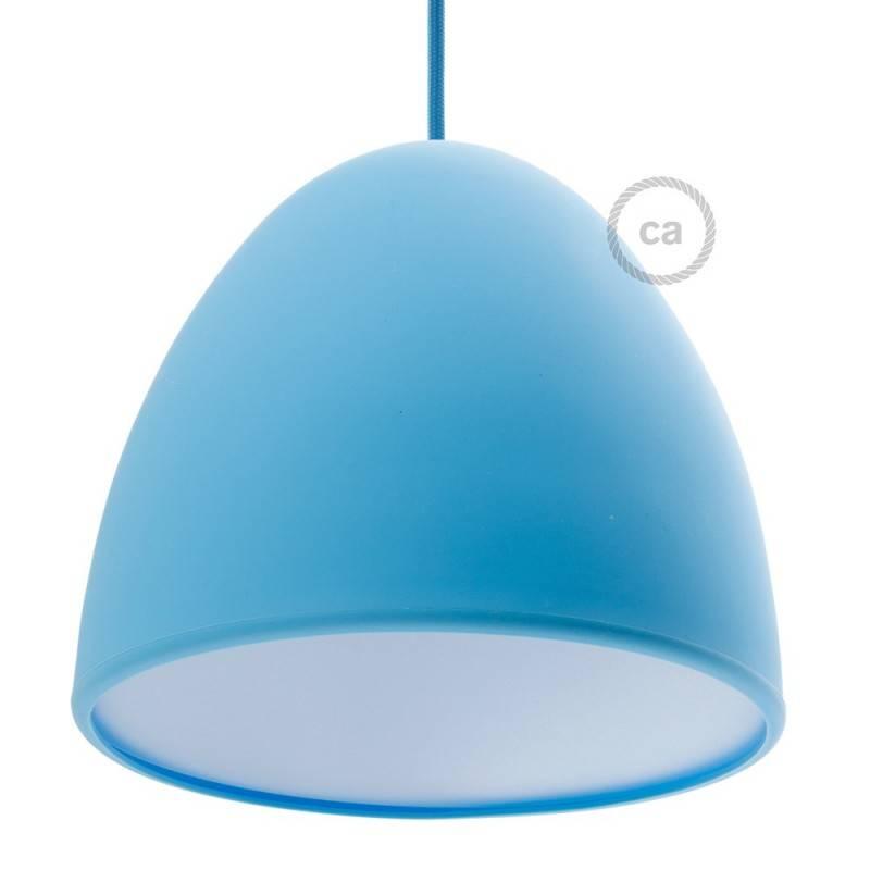 Verlichtingspendel E27 geschikt voor lampenkap. Hanglamp met zilver viscose textielkabel – RM02