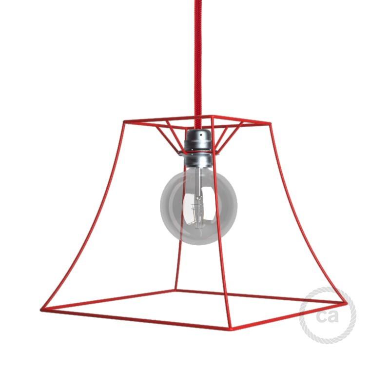 Verlichtingspendel E27 geschikt voor lampenkap. Hanglamp met gevlochten whiskey viscose textielkabel – TM22