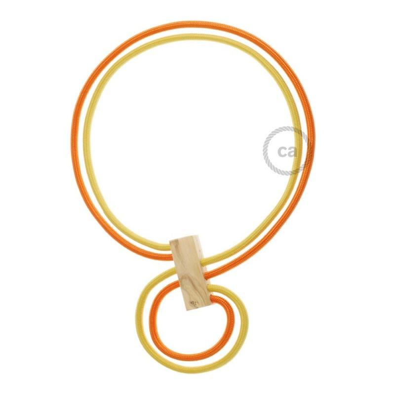 Verlichtingspendel E27 geschikt voor lampenkap. Hanglamp met gevlochten groen viscose textielkabel – TM06