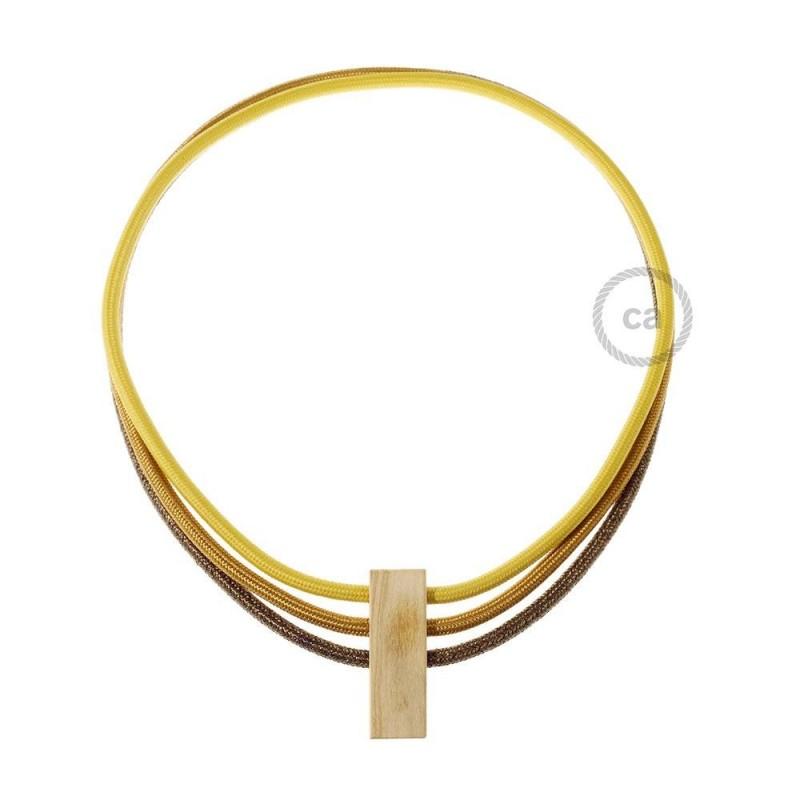Verlichtingspendel E27 geschikt voor lampenkap. Hanglamp met gevlochten groengrijs katoen textielkabel – TC63