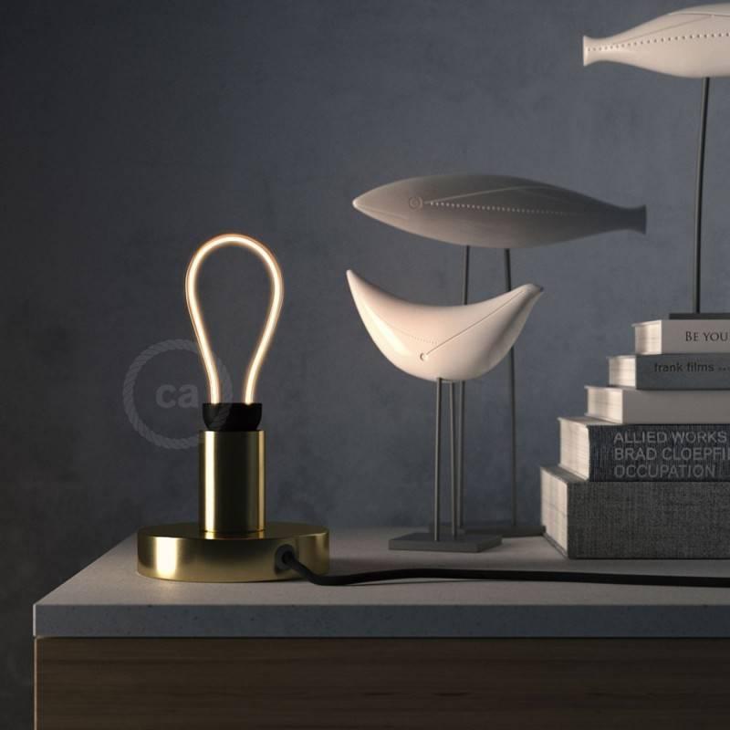 Verlichtingspendel E27 geschikt voor lampenkap. Hanglamp met zwart viscose textielkabel – RM04