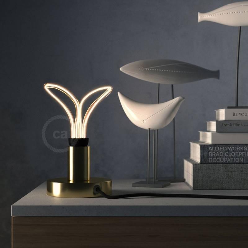 Verlichtingspendel E27 geschikt voor lampenkap. Hanglamp met oranje viscose textielkabel – RM15