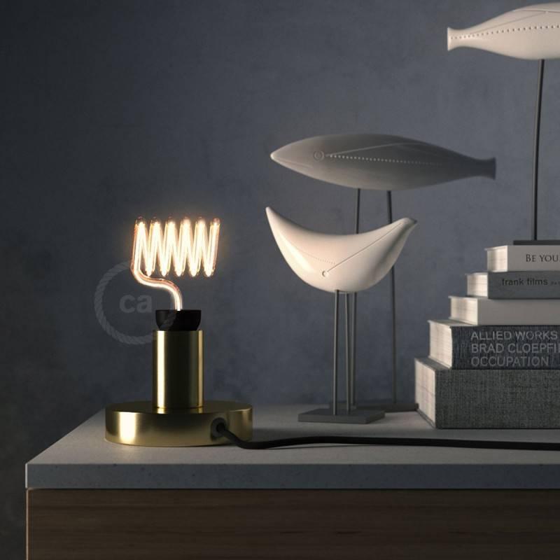 Verlichtingspendel E27 geschikt voor lampenkap. Hanglamp met canvas bruin linnen textielkabel – RN04