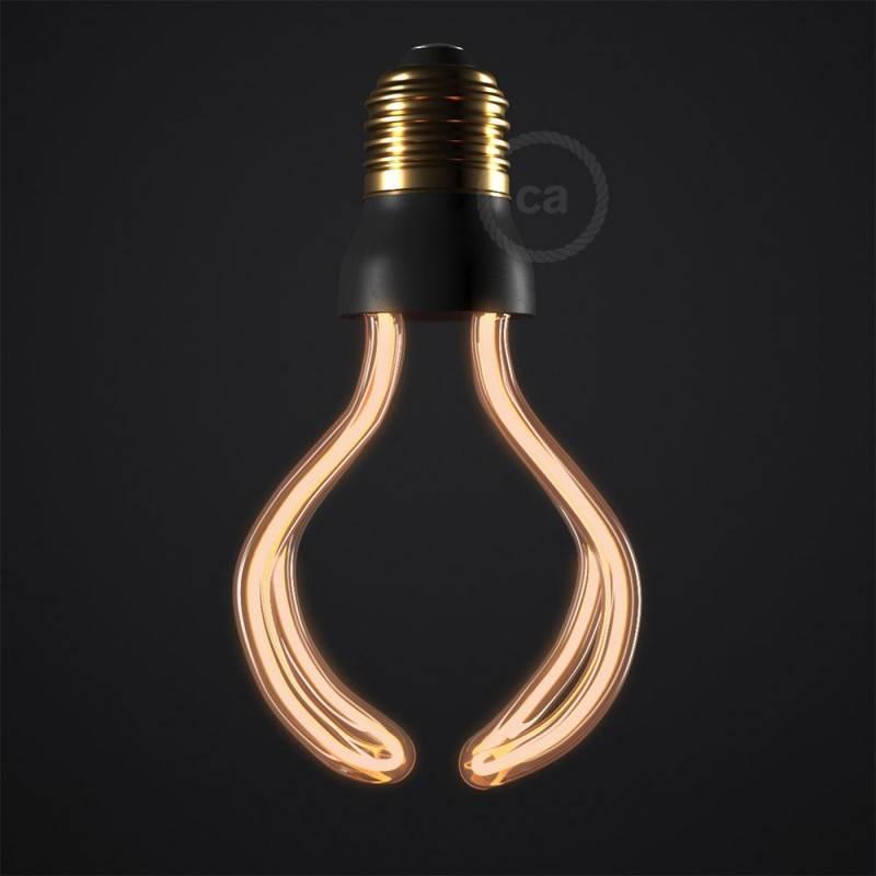 Verlichtingspendel E27 geschikt voor lampenkap. Hanglamp met strepen motief bruin linnen en katoen textielkabel – RD53