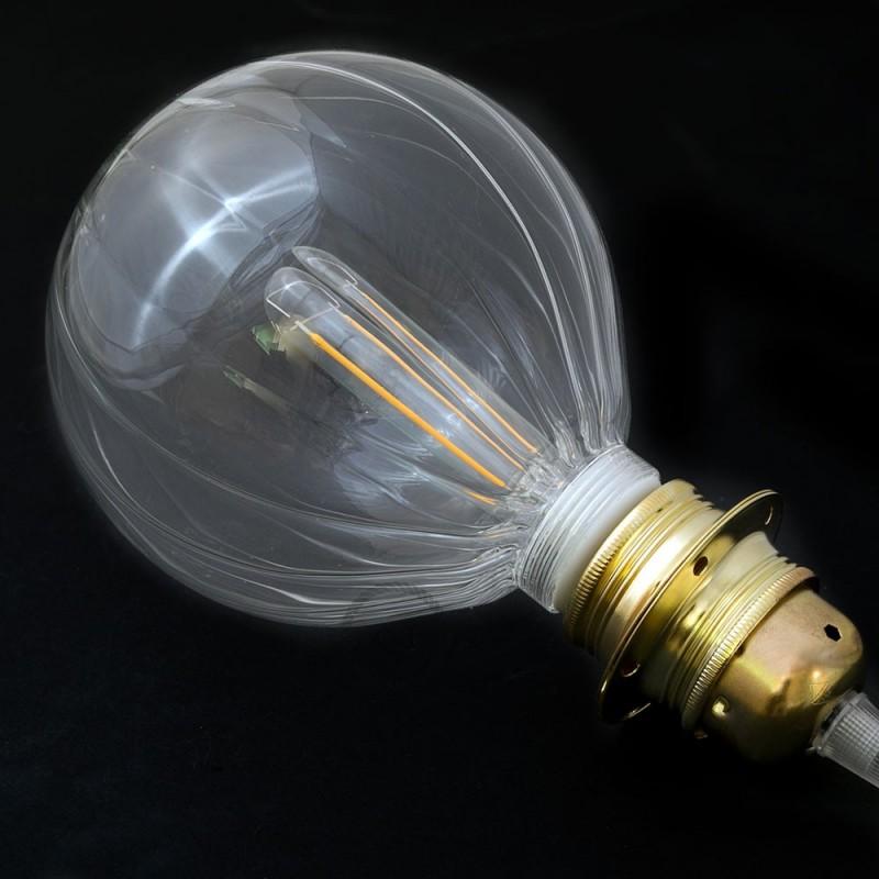 Verlichtingspendel E27 geschikt voor lampenkap. Hanglamp met rood/wit viscose textielkabel – RP09