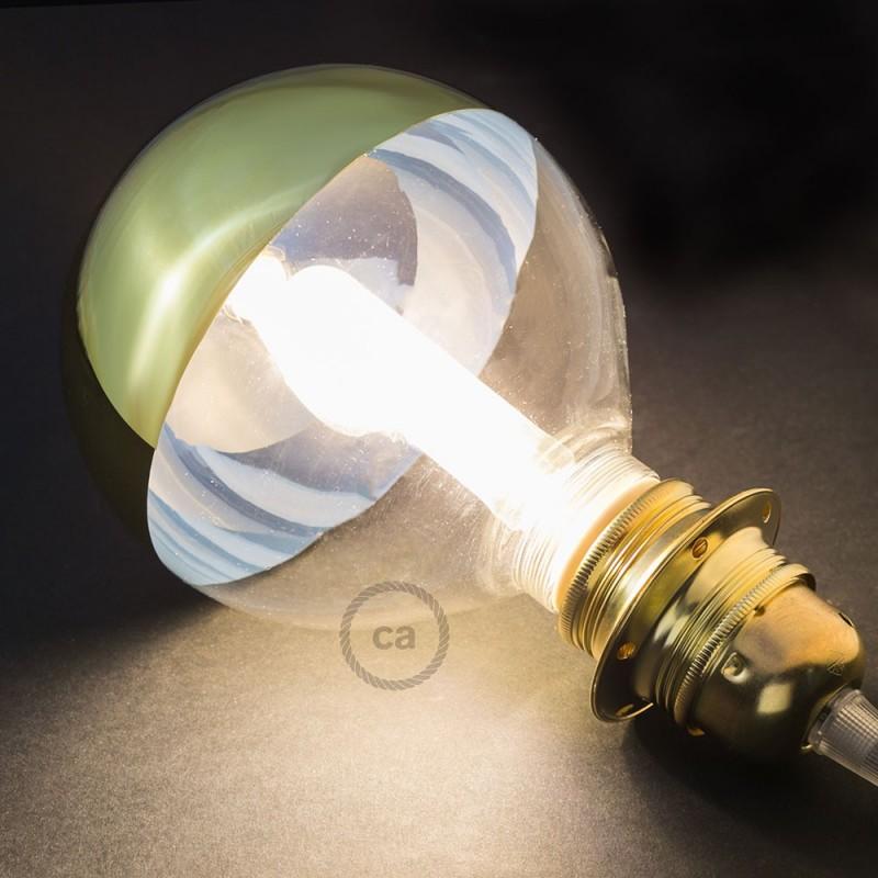Verlichtingspendel E27 geschikt voor lampenkap. Hanglamp met fluo oranje viscose textielkabel – RF15