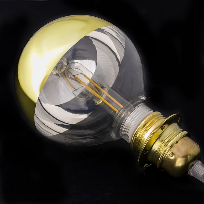 Verlichtingspendel E27 geschikt voor lampenkap. Hanglamp met fluo geel viscose textielkabel – RF10
