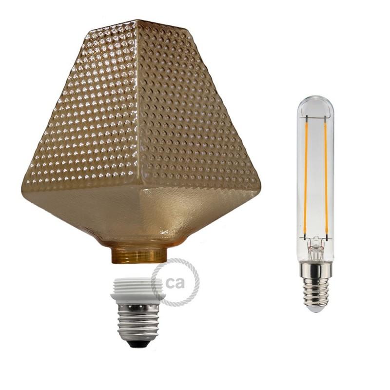 Verlichtingspendel E27 geschikt voor lampenkap. Hanglamp met pixel ice viscose textielkabel – RX04