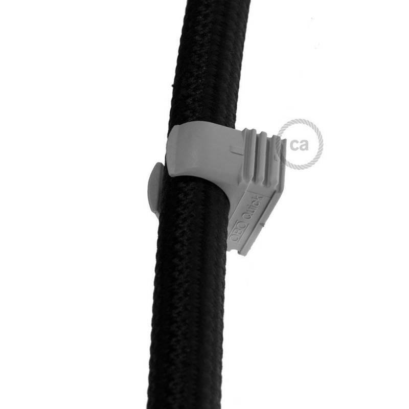 Porseleinen strijkijzersnoer verlichtingspendel E27 gevlochten bruin linnen TN04