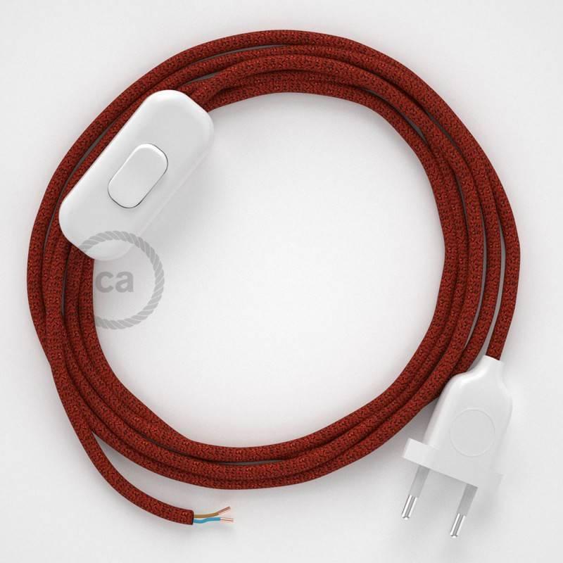Spider, verlichtingspendel met 6 of 7 verlichtingspunten. Rood keramiek met RM09 rode kabel.