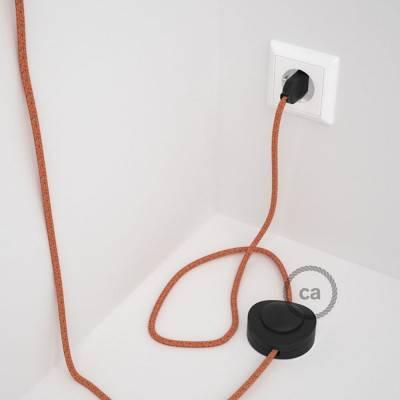 """Witte design wand- of plafond snoerbevestiging """"V"""" voor strijkijzersnoer"""