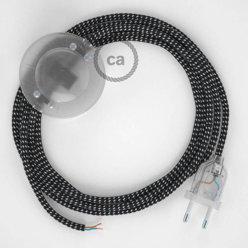 Verlengkabel 2P 10A met rond flexibel strijkijzersnoer RC23 van hertbruin katoen