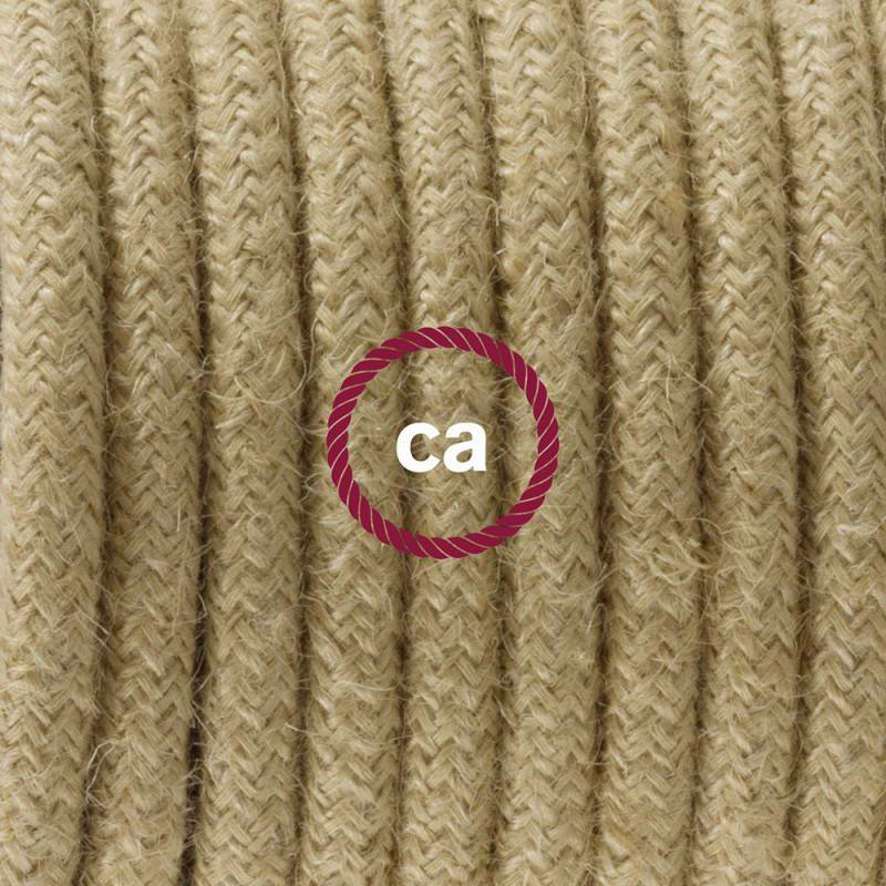 Verlengkabel 2P 10A met rond flexibel strijkijzersnoer RC32 van burgundy katoen