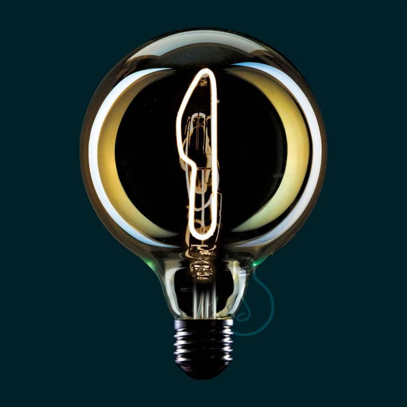 Conische vorm draadframe lampenkap van gepolijst zwart metaal voor E27 fitting