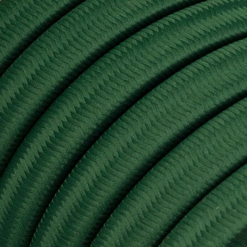 """""""Snake"""" snoerlamp met extra lang strijkijzersnoer gevlochten groengrijs katoen TC63"""