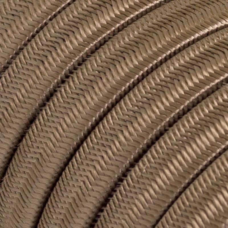 """""""Snake"""" snoerlamp met extra lang strijkijzersnoer gevlochten zwart viscose TM04"""