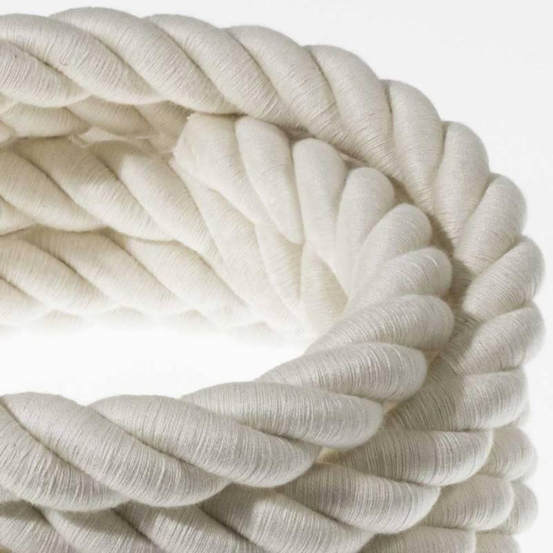 """""""Snake"""" hanglamp met extra lang strijkijzersnoer wit viscose RM01"""