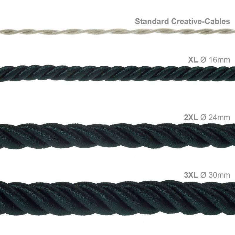 """""""Snake"""" hanglamp met extra lang strijkijzersnoer rood viscose RM09"""