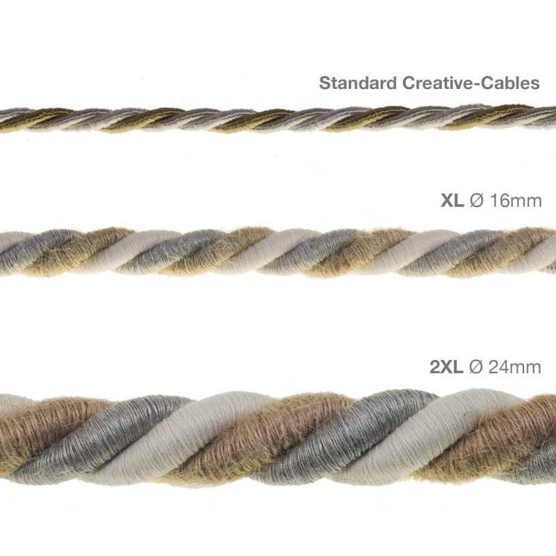 """""""Snake"""" hanglamp met extra lang strijkijzersnoer bruin viscose RM13"""