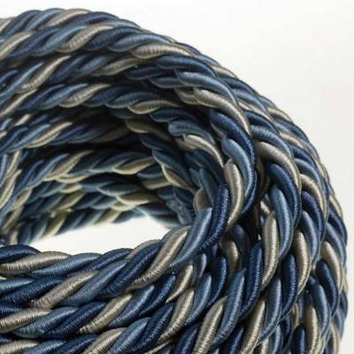 XL electrical cord, electrical cable 3x0,75. Bright fabric covering Bernadotte. Diameter 16mm.