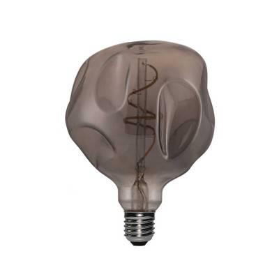 """Le Palle Volanti. Schijfvormige lampenkap van hout met dubbelzijdige print - """"E' comunque un bell'oggetto"""" + Trippy patroon"""