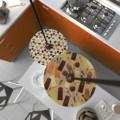 E27 metalen fitting kleur zwart parelmoer, voorzien van 2 schroefringen + design cilindrische trekontlaster