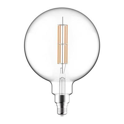LED lichtbron XXL transparant met dubbel lang filament G200 11W E27 dimbaar 2700K
