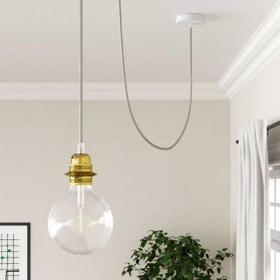 Wit houten cylinder plafondkap voor 3XL electrische scheepstouw kabel