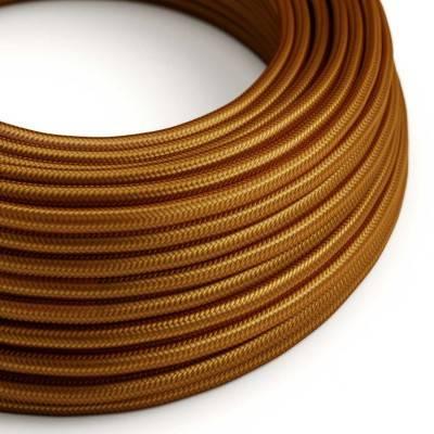 Ronde flexibele electriciteit textielkabel van viscose. RM22 - whiskey