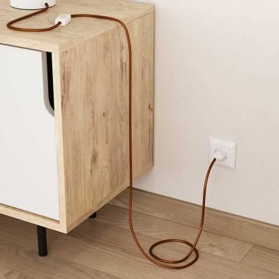 Zwart houten cylinder fittinghouder voor 2XL electrische scheepstouw kabel
