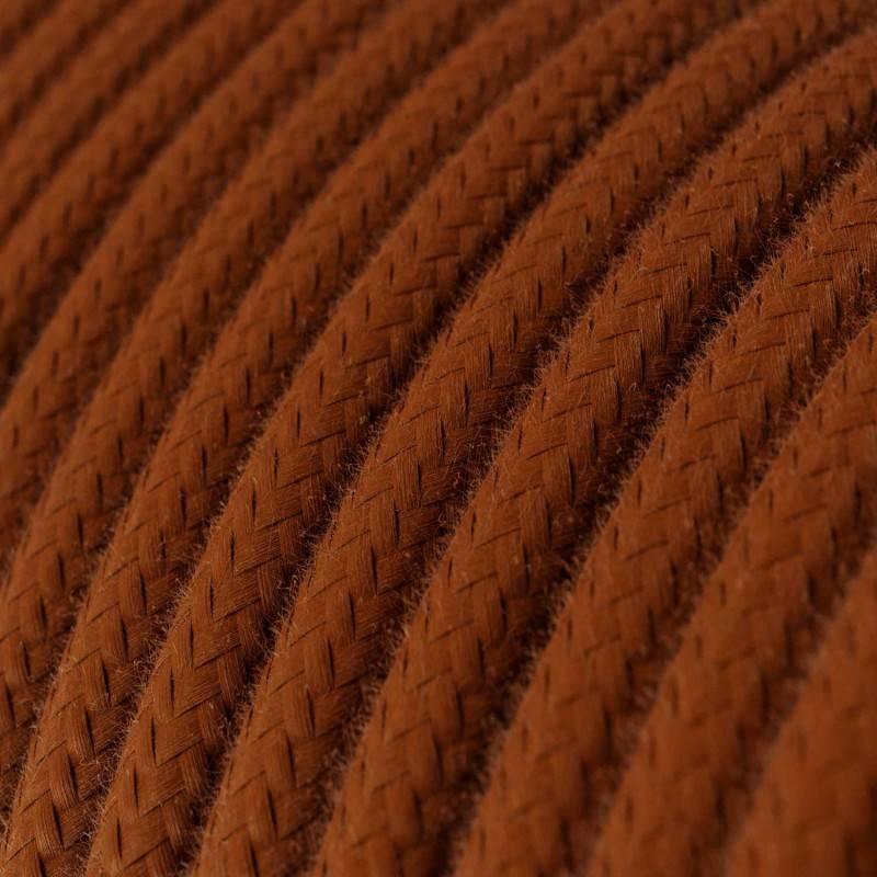Houten verlichtingspendel 2XL electriciteits touwkabel in 24 mm. van katoen