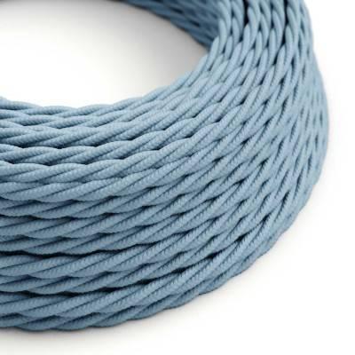 Houten verlichtingspendel 2XL electriciteits touwkabel in 24 mm. van zwart textiel