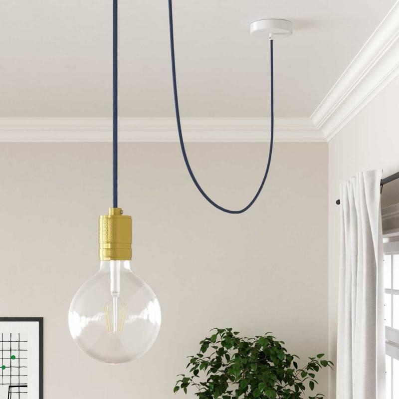 Houten verlichtingspendel 3XL electriciteits touwkabel in 30 mm. van jute