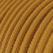 Rond flexibel strijkijzersnoer van katoen. RC31 - honing goud