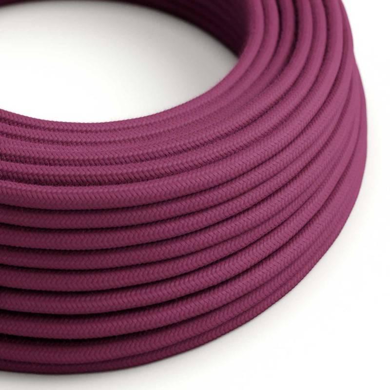 Houten verlichtingspendel 3XL electriciteits touwkabel in 30 mm. van natuurlijk linnen