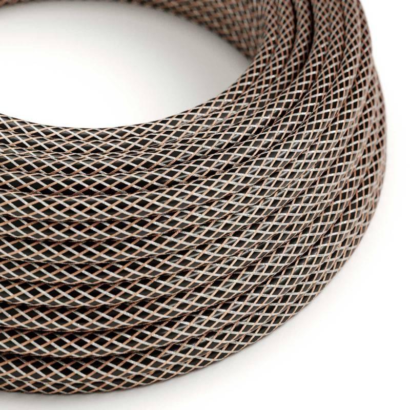 """""""Exclusive"""" E27 metalen fitting kleur Ultraviolet, parelmoer afwerking twee schroefringen, 100% Italië origineel"""