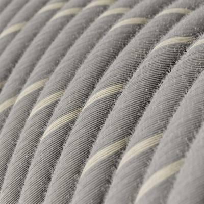 Posaluce, de messing metaal tafellamp met strijkijzersnoer,schakelaar en platte EU stekker zonder randaarde