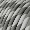 Rond strijkijzersnoer Vertigo HD bedekt met Silver en Grey textiel ERM55