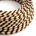 Rond strijkijzersnoer Vertigo HD bedekt met Mr Brown textiel ERM61