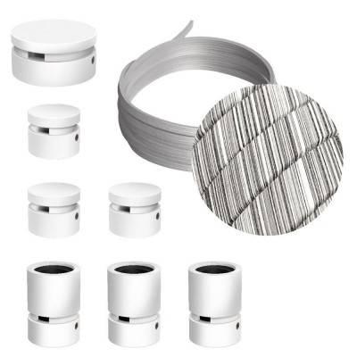 Filé Linear kit systeem - met 5 m. prikkabel voor lichtsnoer en 7 componenten van wit gelakt hout voor binnenruimtes.