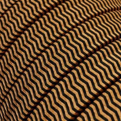 Spostaluce Metallo 90°, het zwart verparelmoerde metalen verstelbare lichtpunt met strijkijzersnoer en zijgaten