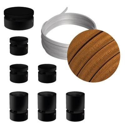 Spostaluce Metallo 90°, het chroom metaal verstelbare lichtpunt met E27 schroefdraad, strijkijzersnoer en zijgaten