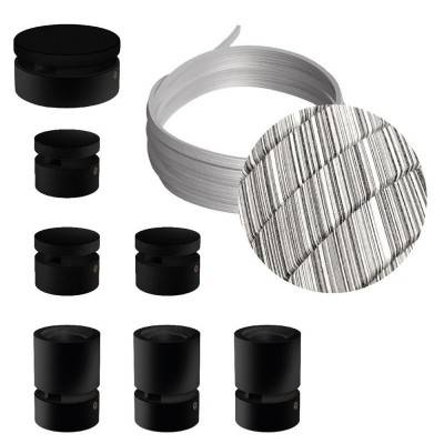 Spostaluce Metallo 90°, het verkoperde metalen verstelbare lichtpunt met E27 schroefdraad, strijkijzersnoer en zijgaten