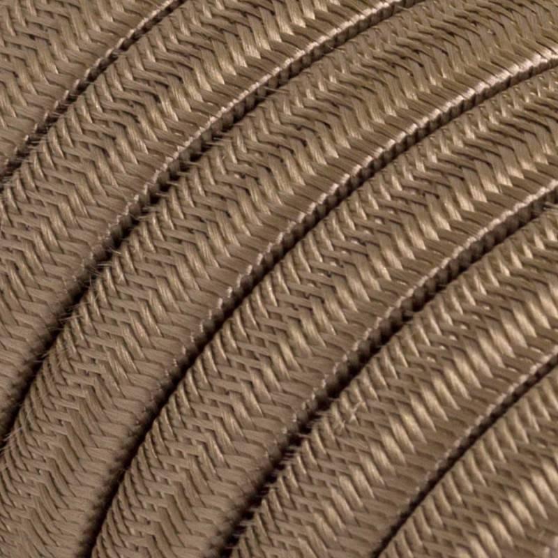 Met textiel omweven 220 V prikkabel, zigzag zwart-wit viscose CZ04
