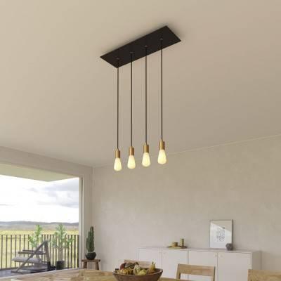 Ecru draadbol koepel lampenkap in polyestervezel - 100% handgemaakt