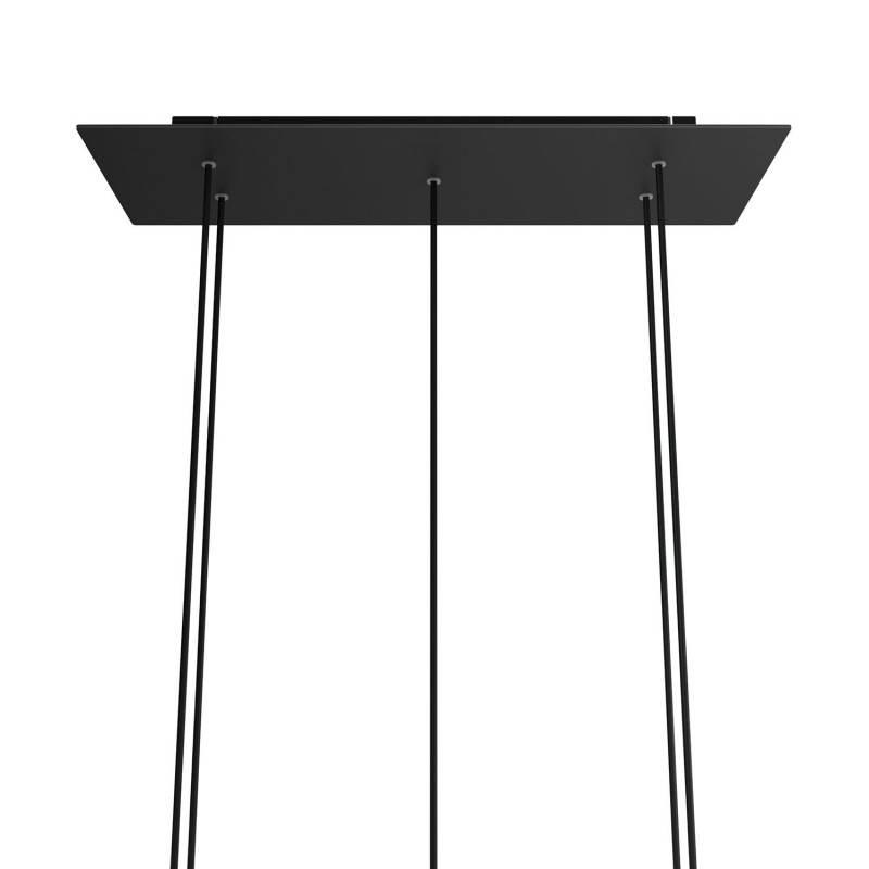 Mosterdgele draadbol koepel lampenkap in polyestervezel - 100% handgemaakt